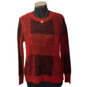 🆕Westbound Red, Black & Charcoal Sweater size PXL